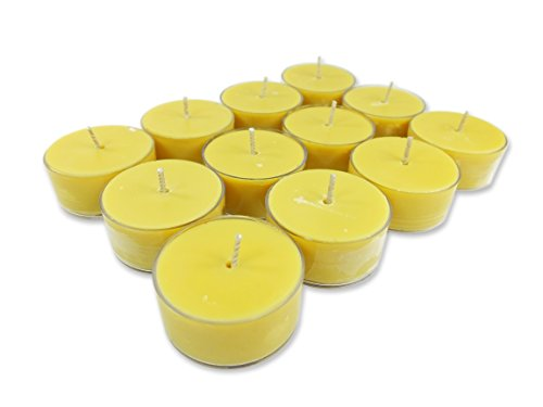 Nag Champa Tealight Candles - Candlecopia Nag Champa Strongly Scented Hand Poured Vegan Tea Lights, 12-Pack