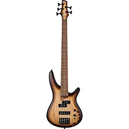 Ibanez SR655E 5-String Bass Guitar (Natural Browned Burst)