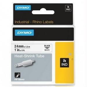 (Dymo 1805443 24mm Rhino Heat Shrink Tube - White-Black )