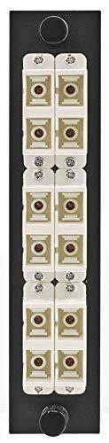 Hubbell - FSPSCDS6BE - Hubbell FSPSCDS6BE SC Duplex Adapter Panel, 12-Port, Beige, Zirconia Ceramic