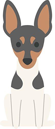 Adorable Pure Breed American Puppy Dog Cartoon Vinyl Decal Sticker (4