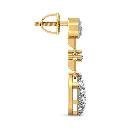 Or jaune 18K/CT TW White-diamond (IJ | SI) Pendants d'oreilles