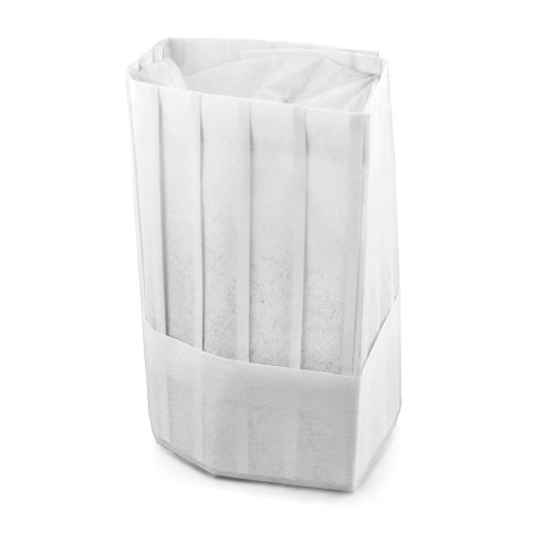 (New Star Foodservice 32208 Disposable Non Woven Flat Chef Hat, 9-Inch, White, Set of 10)