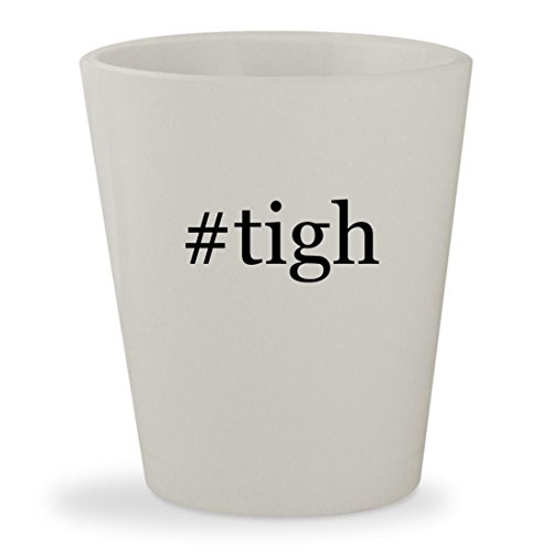 #tigh - White Hashtag Ceramic 1.5oz Shot Glass