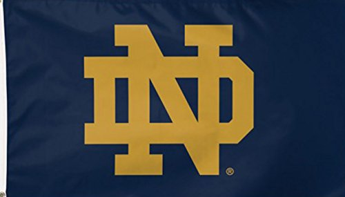 Deluxe Flagpole - NCAA Notre Dame Fighting Irish Cheer ND Flag Deluxe, 3 x 5-Foot