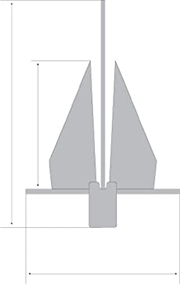 SeaSense #4 Penetrating Galvanized Fluke Style Anchor