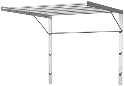 IKEA GRUNDTAL - Tendedero, pared, acero inoxidable - 56x54 cm: Amazon.es: Hogar