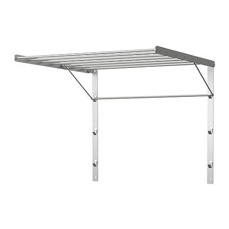 IKEA GRUNDTAL - Tendedero, pared, acero inoxidable - 56x54 ...