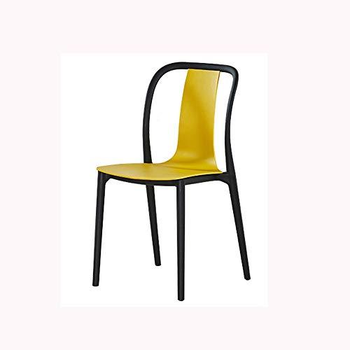 HUACANG Silla de Comedor de plastico, Muebles Modernos para Sala de Estar, Escritorio, Patio, terraza, Oficina, Cocina, cafeterias y mas (Color : Amarillo)