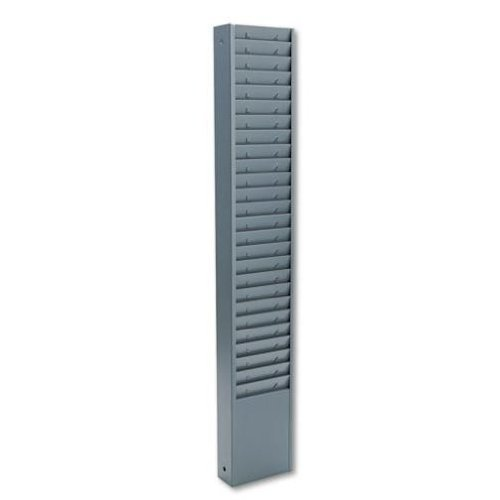 Buddy Products 25 Pocket Time Card Rack, Steel, 7 Inch Pocket Height, 4.375 Pocket Width, 2 x 30.125 x 5 Inches, Gray (0800-1) by Buddy ()