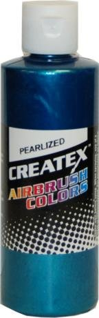 4 oz. Bottle of Createx Pearl Turquoise Pearlized Airbrush Color CREATEX ()