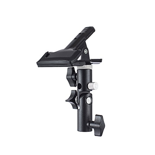 Fovitec - 1x Multi Purpose Heavy Duty Clamp - [Holds Reflectors, Backdrops & Diffusers][180 Degree Tilt][Metal Construction][Rubber Padding] (Foam Board Reflector)
