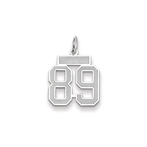 (14k WG Small Satin Number 89 Charm)