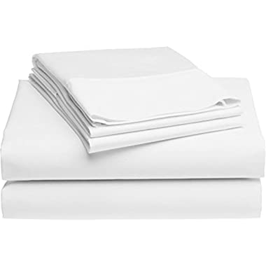 Lockwood Collection 500 Thread Count 100% Egyptian Cotton Luxury Sheet Set By Home Fashion Designs (Queen, White)