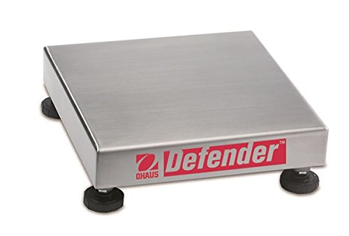 Scale Bench Base Square (Ohaus Defender 304 Stainless Steel NTEP Certified Square Bench Scale Base, 50kg x 5g)