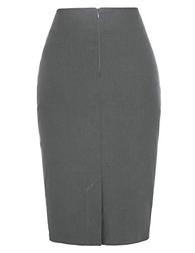 Manche Femme Kate Kasin Sans Collections kk268 Dunkelgrau Jupe Fashion 3 SxS6H4wqX