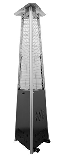 AZ Patio HLDS01-CGTPC Commercial Triangle Glass Tube Heater, Matte Black (Az Patio Heaters Infrared compare prices)