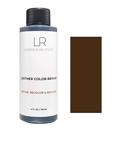 Leather Restore Leather Color Repair, Dark Brown 4 OZ - Repair, Recolor and Restore Couch, Furniture, Auto Interior, Car Seats, Vinyl and Shoes ()