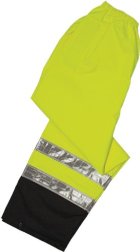 ML Kishigo RWP100 Storm Stopper Pro Rainwear Pant, Fits Large and Extra Large, Lime