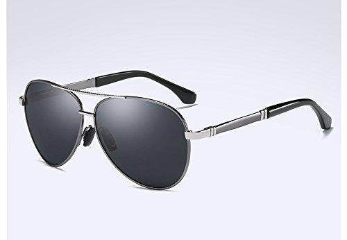 Alta Oro de Gafas Gafas Sunglasses Estilo polarizadas gray Metal Negro Calidad Hombres gray TL Gris Unisex Lentes HD Oxvw88P