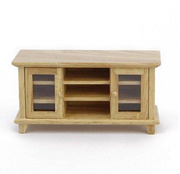 Mueble de TV DIY Hut Mini muebles madera color doble puerta Anty-ni