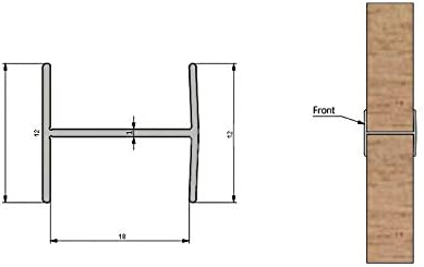 Perfiles H de aluminio de 3 m para puertas correderas de armario ...