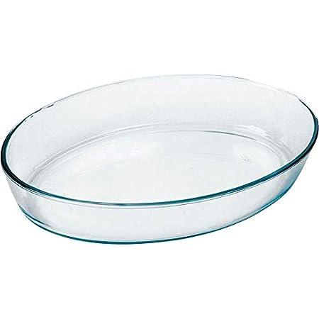 Marinex Cristal Bandejas Horno Oval, 3.2 litros, Vidrio: Amazon.es ...