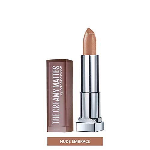 Maybelline New York Color Sensational Nude Lipstick Matte Lipstick, Nude Embrace, 0.15 oz.