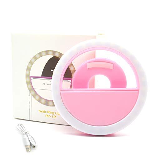 Jsdoin Selfie ring light, three-level adjustable brightness In-camera video light suitable for iPhone, iPad, Samsung…