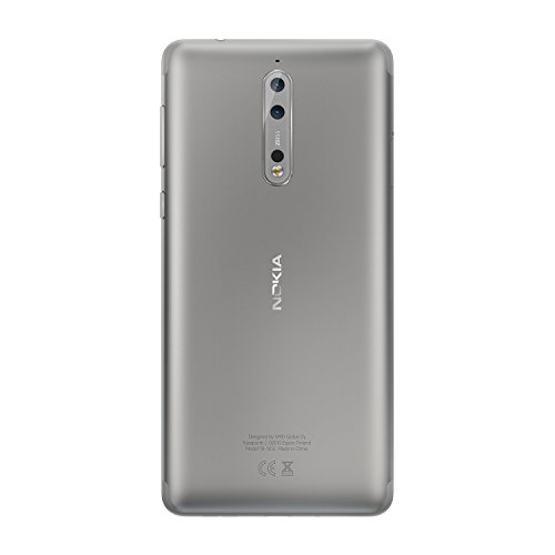Nokia 8 64GB Single-SIM Android (GSM only, No CDMA) Factory Unlocked 4G/LTE Smartphone (Silver) - International Version