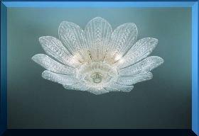 Plafoniere Con Foglie : Plafoniera foglie vetro murano cri cristallo
