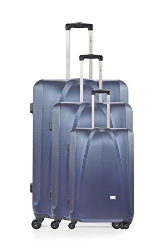 ANTONELLE Set de 3 trolleys rígidos Sablon Azul Marino Azul Marino