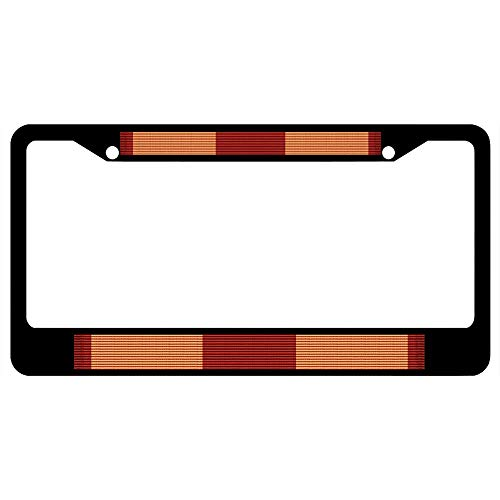 - URCustomPro Marine Corps Expeditionary Medal Ribbon Black License Plate Frame Military - Stainless Steel Car Plate Frame, License Tag Holder, 2 Holes and Screws
