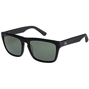 Quiksilver The Ferris Premium Sunglasses - Matte Black / Green Polarized