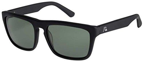 Quiksilver The Ferris Premium Sunglasses - Matte Black / Green (Quiksilver Mens Foundation)