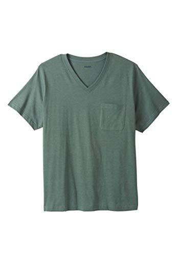 KingSize Men's Big & Tall Shrink-Less Lightweight Cotton V-Neck Pocket Tee, by KingSize (Image #3)