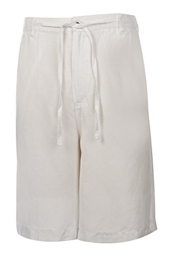 Weekender Men's St. Barts Linen Short White 36 by Weekender