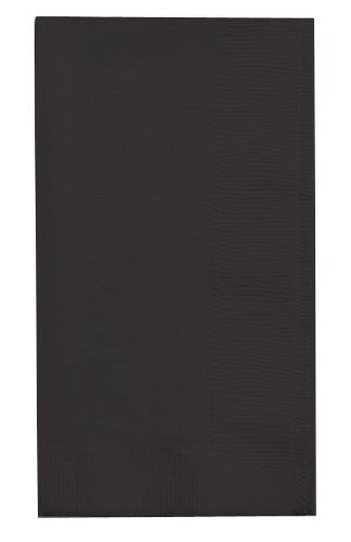 Creative Converting Touch of Color 100 Count 2-Ply Paper Dinner Napkins, Black Velvet - 279134