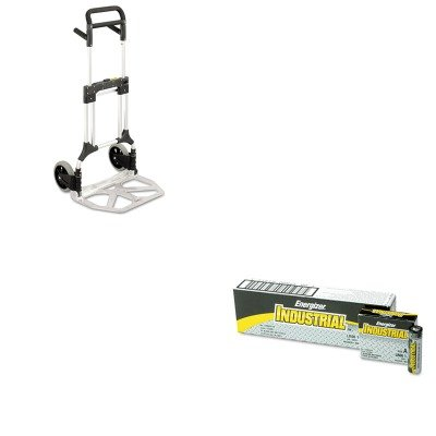 Safco Industrial Hand Trucks (KITEVEEN91SAF4055NC - Value Kit - Safco Stow-Away Heavy-Duty Hand Truck (SAF4055NC) and Energizer Industrial Alkaline Batteries (EVEEN91))