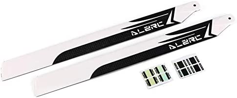 Alzrc 325Mm Carbon Fiber Main Blades Propeller for Devil 450 Helicopter Rc