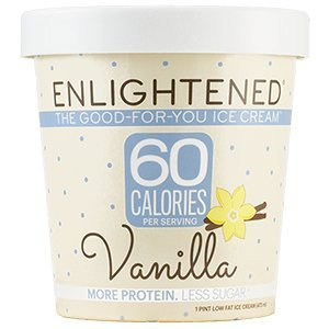 Enlightened - The Good For You Ice Cream, High Protein-Low Sugar-High Fiber-Low Fat, Vanilla, Pint (8 Count) (Best Halo Top Ice Cream)