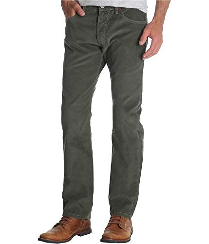 - Wrangler Mens Basic Casual Corduroy Pants, Green, 30W x 32L