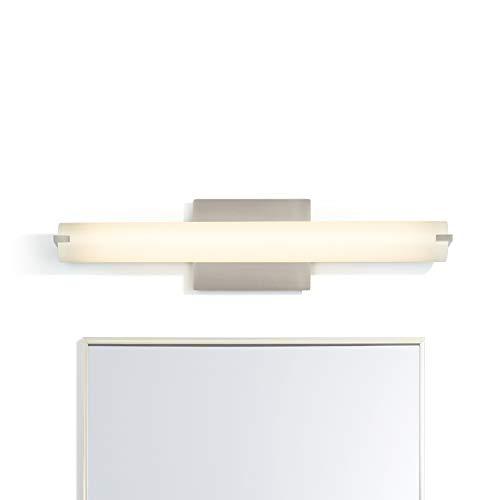 LED Bathroom Vanity Light Fixture - Satin Nickel Metal, Daylight 3000 Kelvin, -