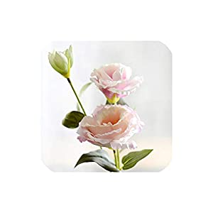 Bling-Bling Case 1Pc Artificial Flower 3 Heads Fake Eustoma Gradiflorus Lisianthus Christmas Wedding Party Home Decorative,Pink B 72