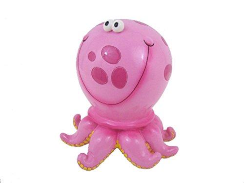 Pink Polka Dot Octopus Savings Money Bank Piggy (Octopus Resin compare prices)