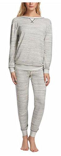 Felina Women's 2 Piece Lounge Pajama Set (Black, - 2 Sweatpants Piece Thermal