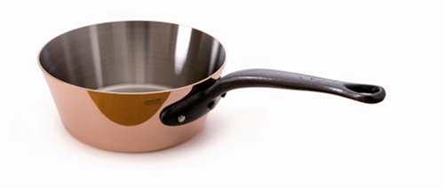 Mauviel Made In France M'Heritage Copper M250C 6503.20 1.7-Quart Splayed Saute Pan, Cast Iron Handle ()