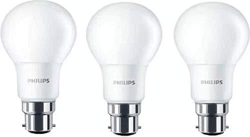 Philips 12 W Standard B22 LED Bulb  White, Pack of 3