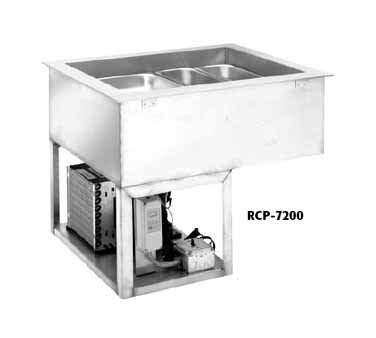 Wells RCP-7600 Cold Food Unit drop-in mechanically cooled 6-pan size with drain by Wells