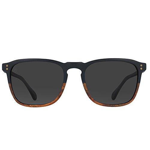 d36cdc8fbc3 RAEN optics Wiley Polarized Sunglasses Burlwood Black Polarized